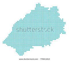 Компьютерная карта острова Святой Елены реферат компьютерная графика Святой Елены карте синими круглыми точками векторные иллюстрации дотти