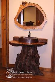 unique rustic furniture. Unique Rustic Bathroom Vanity Handcrafted In Our Studio With Responsibly Sourced Wood. The Base Is A Driftwood Root Supporting Live Edge Curly Furniture W
