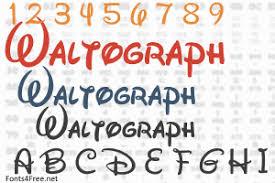 Disney Font Waltograph Font Download Walt Disney Font Fonts4free