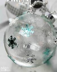 Decorating Clear Christmas Balls Awesome DIY Ideas To Decorate Clear Ornaments Creative Juice