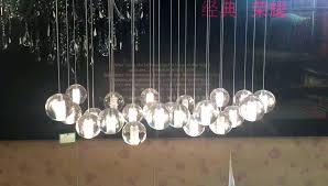 glass ball chandelier light led rectangular floating steel wire detail modern lights pendant lighting d