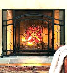 beveled glass fireplace screen beveled glass fireplace screen stained glass fireplace screen s stained glass fireplace