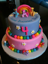 Birthday Cake For A 4 Year Old My Little Pony Theme Choco Flickr