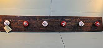 rustic coat rack wall mounted coat hook wall mounted with simply red mahogany wood coat hooks