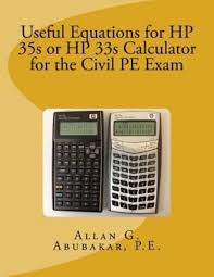 useful equations for hp 35s or hp 33s calculator for the civil pe exam by p e a 1483951502