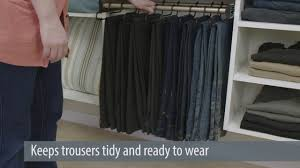 how to pants in a closet