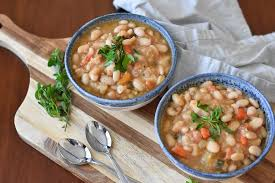 Great northern beans vs navy beans. Instant Pot Vegan White Bean Soup With Two Spoons