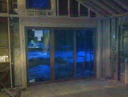 demo framing and installation of a 10 foot sliding glass door you