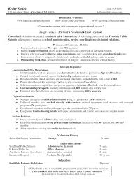 Sample Resume Objectives For Administrative Assistant Administrative