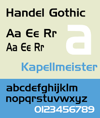 Fonts For Resume Handel Gothic Wikipedia 89