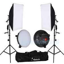 portable studio photography led continuous lighting kit softbox light stand bag 1 of 12only 5 available