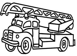 Miniescavatore Disegno Camion Dei Pompieri