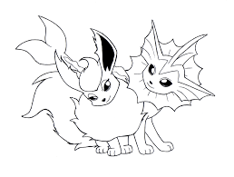 Small Picture Awesome Pokemon Eevee Evolutions Coloring Pages 84 For Free