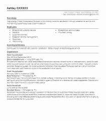 Sample Resume For Housekeeping Supervisor Professional Housekeeper