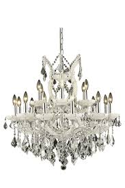 maria theresa 19 light white chandelier clear elegant cut crystal