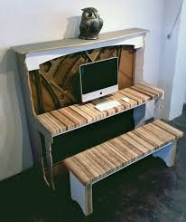Recycling Piano for Computer Desk, Creative Vintage Furniture Design Idea