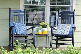 black rocking chair chairs for outdoor cushions home depot