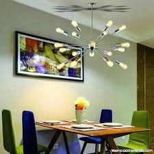 sputnik chandelier brushed nickel lights modern pendant lighting large industrial ceiling light fixture dining room l