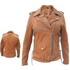 add to my lists allstate women classic motorcycle tan brown suede leather biker jacket