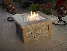 The Outdoor GreatRoom Company Colonial Fiberglass Gas Chat Fire Outdoor Great Room