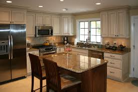 Plain Painting Cherry Kitchen Cabinets White Surprising Painted Glazed And Inspiration