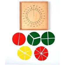 Shop <b>New Wooden Baby</b> Toy Montessori Curriculum Math Fraction ...