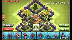 Clash Of Clans Layout De Guerra Para Cv4 Youtube