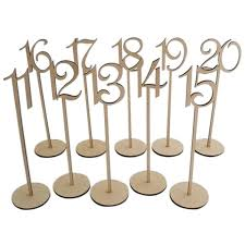 1-<b>20</b> Wedding or Home Decoration <b>Wooden</b> Table Numbers with ...
