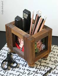 wood photo frame diy desk organizer nifty diy desk organizer ideas to keep you ive