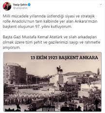 Vali Şahin'den Ankara'nın başkent oluşunun 97. yıl dönümü mesajı