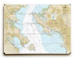 Ca San Francisco Bay Angel Island To Point San Pedro Ca Nautical Chart Sign