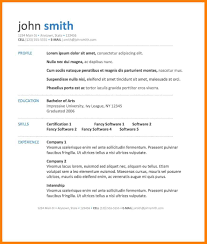 Resume Templates Creative In Word Formate Cv Template Examples