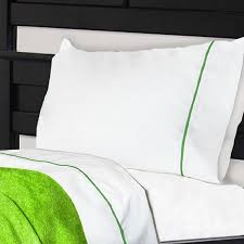 notuck bunk bed sheets cotton polyester with lime green trim