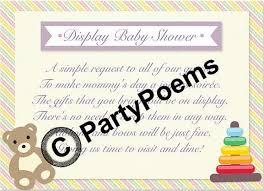 Display Baby Shower Wording