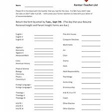 Fill In The Blank Resume Resumes Printable Form For Highschool