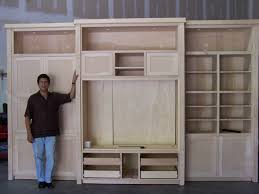 In Wall Entertainment Cabinet Built In Entertainment Centers Custom Maple Entertainment Center