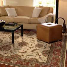 traditional rug in ivory rust runner