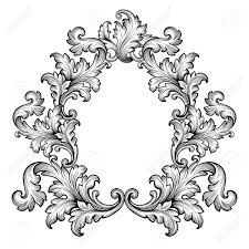 antique frame drawing. 1300x1300 Vintage Baroque Frame Scroll Ornament Engraving Border Retro Antique Frame Drawing