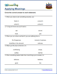 Grade 3 vocabulary worksheet - definitions of words | K5 Learning