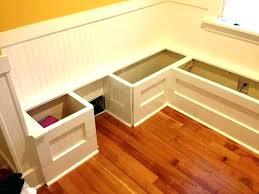 breakfast nook bench with storage diy kitchen benches photo of corner plans custom