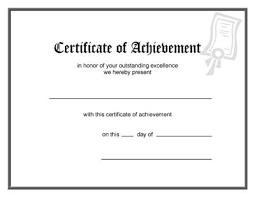 Achievement Awards Templates Blank Award Certificate Template