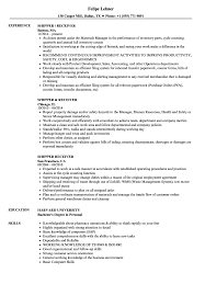 Shipper/receiver Resume Samples | Velvet Jobs