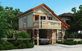 PHP    Two Storey House Plan   Balcony   Pinoy House    Plans Ready