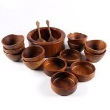 bowls teak salad bowl danish modern designs solid set large wooden canada