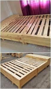 pallet made furniture. Wooden Pallet Diy Bed Made Furniture