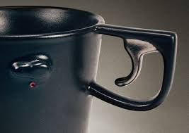 Cabelas pistol grip coffee mug ceramic cup black hand gun handle very nice! Pistol Grip Mug Yanko Design