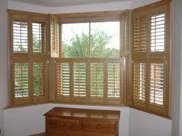 bay window wooden shutters