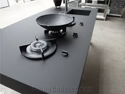 noble black quartz stone countertops solid surface non porous and easy to clean directly from china manufacturer with iso nsf certificate more durable than