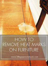 how to remove white heat marks on furniture