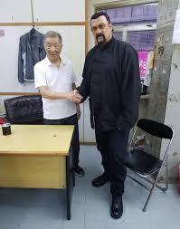 GM Ip Ching and Steven Seagal . - Grandmaster Ip Man - Wing Chun   Facebook